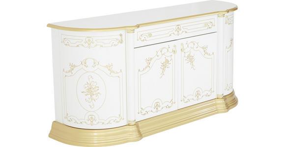 SIDEBOARD 186/87/54 cm  - Goldfarben/Weiß, LIFESTYLE, Holzwerkstoff/Kunststoff (186/87/54cm) - Cantus