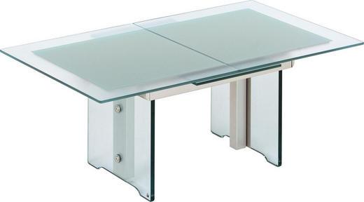 COUCHTISCH rechteckig Transparent - Transparent, Design, Glas/Metall (125(165)/56-75/75cm)