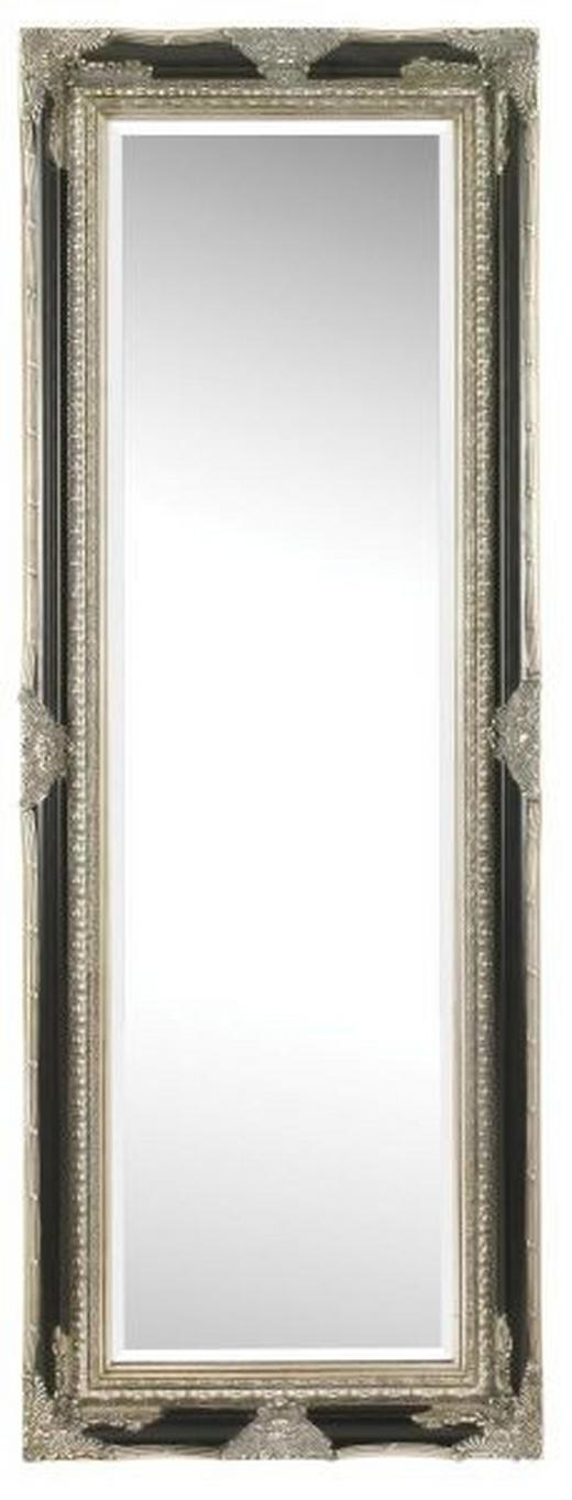 SPIEGEL Schwarz, Silberfarben - Silberfarben/Schwarz, LIFESTYLE, Holz (60/160/6,1cm) - Landscape