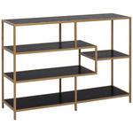 REGAL Schwarz, Goldfarben  - Goldfarben/Schwarz, MODERN, Holzwerkstoff/Metall (114/78/35cm) - Xora