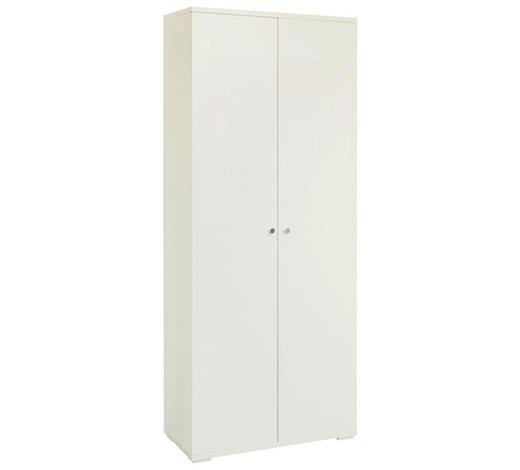 SCHUHSCHRANK 80/197/37 cm  - Chromfarben/Weiß, Design, Holzwerkstoff/Metall (80/197/37cm) - Xora
