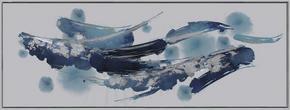 OLJEMÅLNING - vit/multicolor, Basics, trä/textil (150/55cm) - Monee
