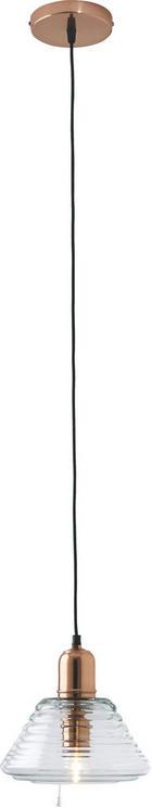 HÄNGELEUCHTE - Klar, Design, Glas/Metall (21/21/25cm) - Ambia Home