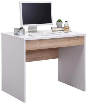 SKRIVBORD - vit/Sonoma ek, Klassisk, träbaserade material (90/76/60cm) - Low Price