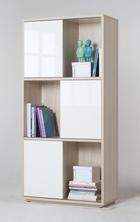 REGAL 90/186/40 cm bela, jesen - jesen/bela, Design, leseni material (90/186/40cm) - Xora