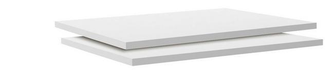 Einlegebodenset Unit - Weiß, MODERN, Holzwerkstoff (87,9/1,8/54,4cm) - Ombra