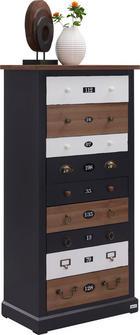 KOMODA - bílá/šedá, Lifestyle, kov/dřevo (60/120/34cm) - CARRYHOME