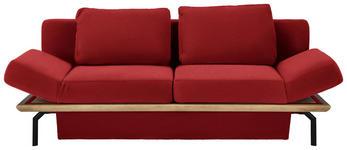 SCHLAFSOFA in Holz, Textil Eichefarben, Rot - Eichefarben/Rot, MODERN, Holz/Textil (234/90/102cm) - Dieter Knoll