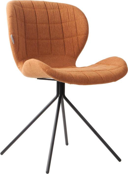 STUHL Honig - Schwarz/Honig, Design, Textil/Metall (51/56/80cm)