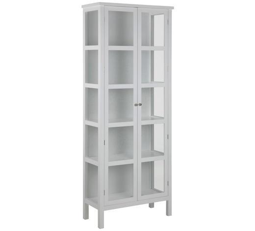 VITRÍNA, bílá - bílá/barvy stříbra, Lifestyle, kov/kompozitní dřevo (80/210/35,5cm) - Carryhome