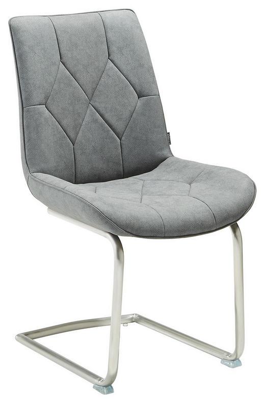 SCHWINGSTUHL Lederlook Grau - Edelstahlfarben/Grau, Design, Textil/Metall (51,50/92,50/61cm) - Novel