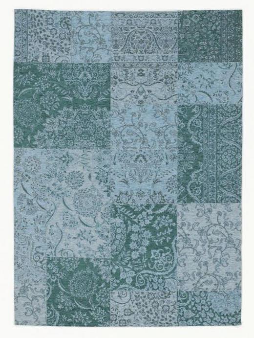 FLACHWEBETEPPICH  90/160 cm  Türkis - Türkis, Basics, Textil (90/160cm) - Novel
