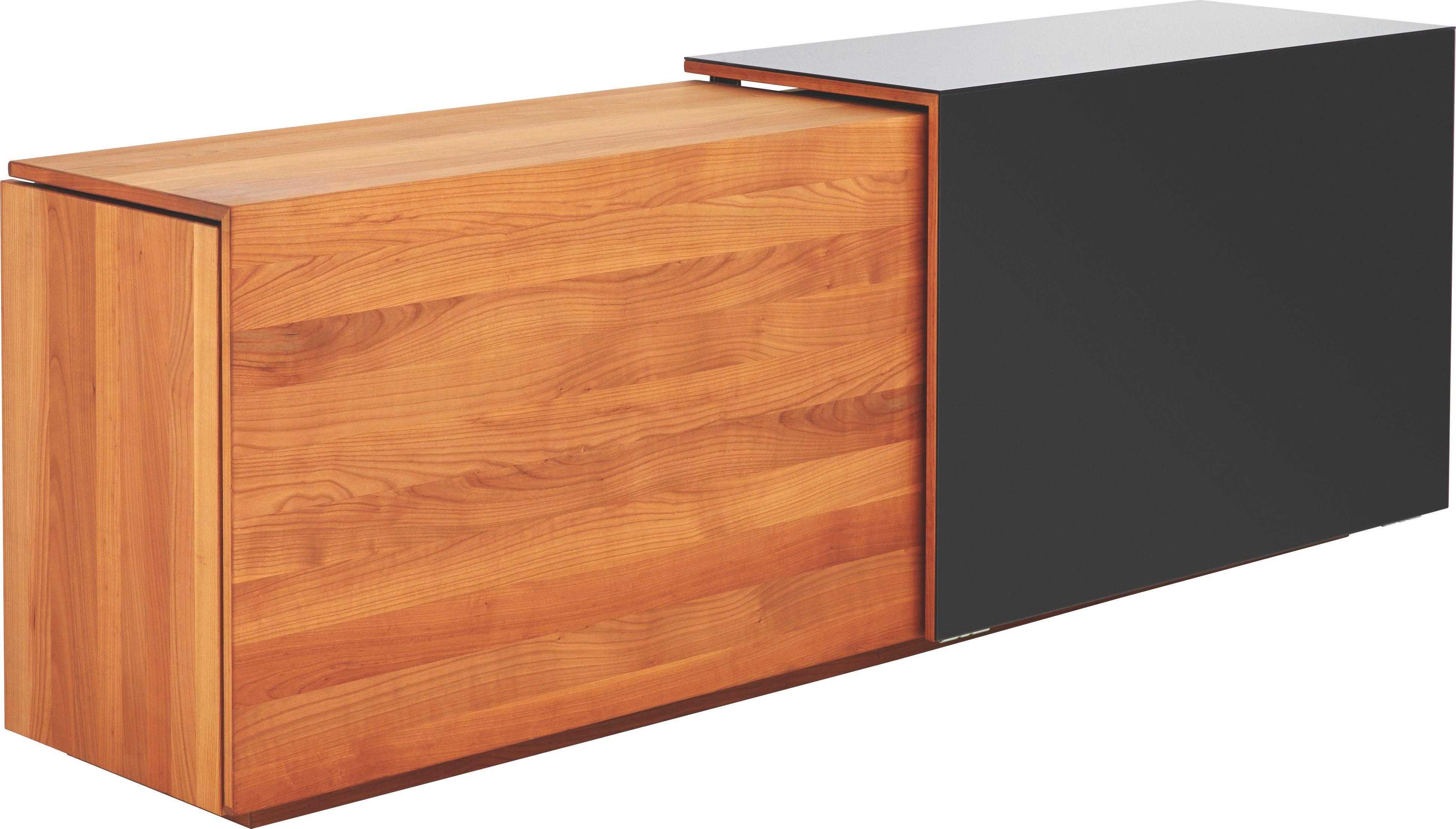 Kirschbaum Sideboard sideboard schwarz glas tv table lcd tv bracket mount black