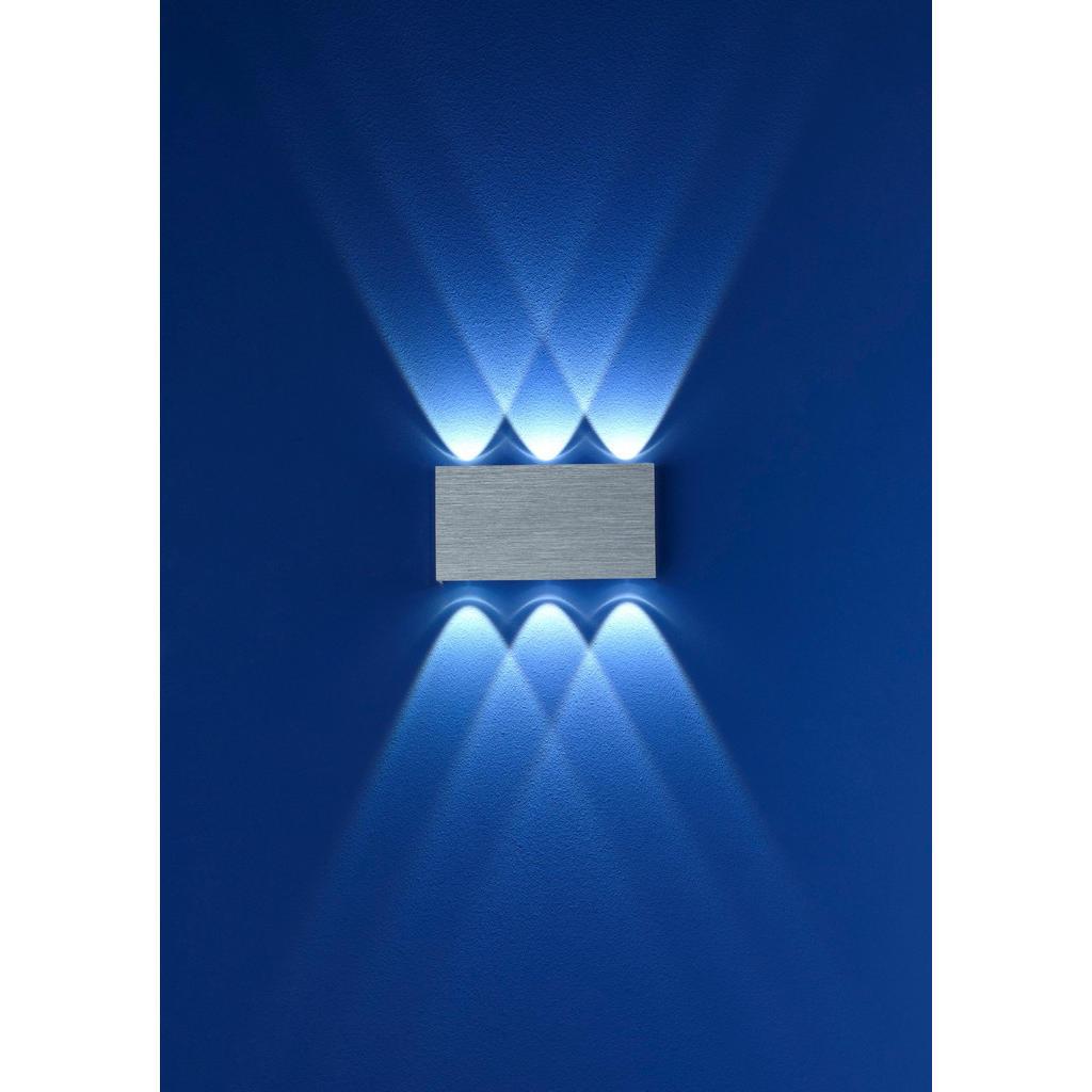 XXXLutz Led-wandleuchte , 40088/6-73 , Dunkelgrau , Metall , 17x9 cm , eloxiert , 007473000704 | Lampen > Wandlampen | XXXLutz