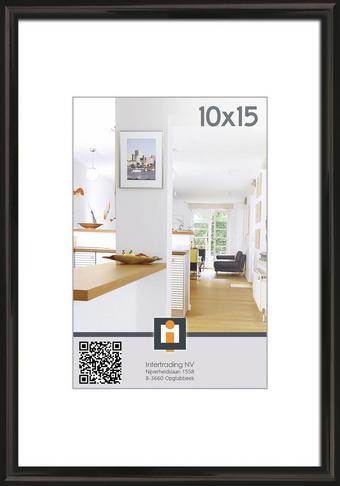OKVIR ZA SLIKE 104025, 10/15 - črna, Basics, umetna masa/steklo (11/16cm) - Novel