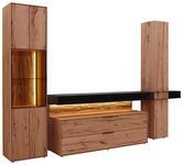WOHNWAND Buche massiv Anthrazit, Buchefarben - Anthrazit/Buchefarben, Design, Glas/Holz (307/2016/49cm) - Valnatura
