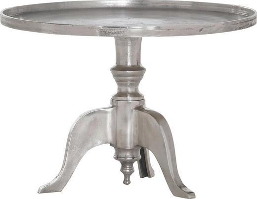 BEISTELLTISCH rund Alufarben - Alufarben, Design, Metall (45/65cm) - Carryhome
