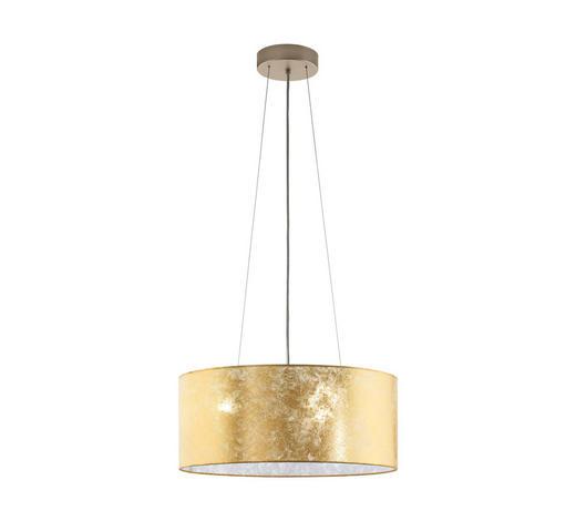 HÄNGELEUCHTE - Champagner/Goldfarben, KONVENTIONELL, Textil/Metall (53/110cm)