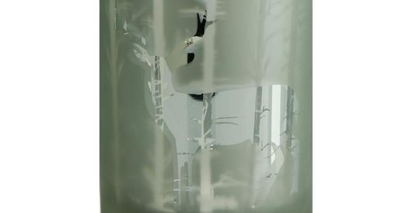 Teelichthalter Baltus D/H: ca. 10,2/12,5cm - Grau/Grün, KONVENTIONELL, Glas (10,2/12,5cm) - Ombra