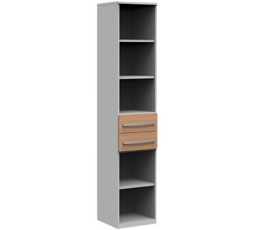 REGAL in 40/217,4/43 cm Grau, Eichefarben  - Eichefarben/Hellgrau, Design, Holzwerkstoff/Metall (40/217,4/43cm)