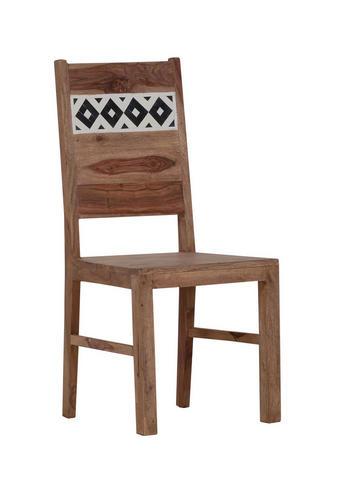 STUHL Sheesham massiv Sheeshamfarben - Sheeshamfarben, Design, Holz/Kunststoff (45/100/52cm) - LANDSCAPE