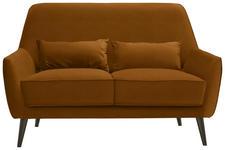 ZWEISITZER-SOFA in Textil Gelb  - Gelb/Schwarz, MODERN, Holz/Textil (135/86/80cm) - Carryhome