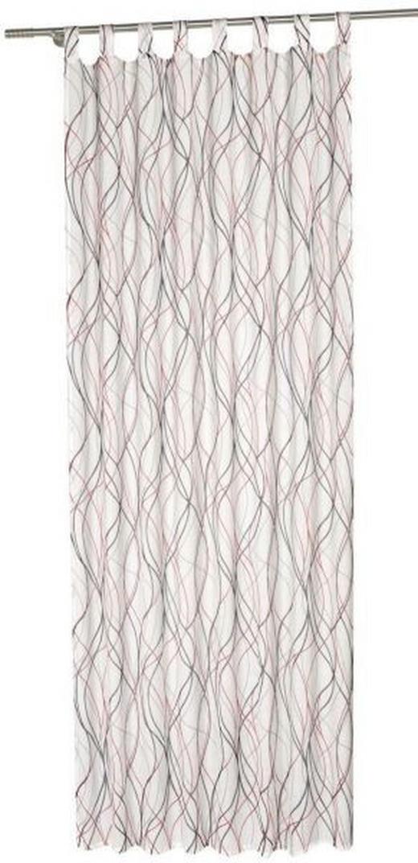 VORHANGSCHAL halbtransparent - Grau, KONVENTIONELL (140/245cm) - Esposa