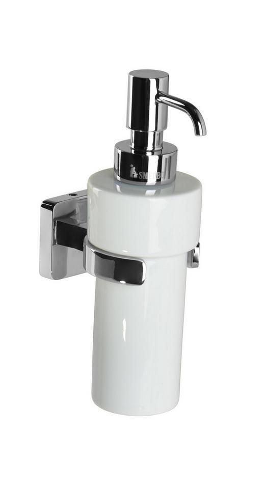 SEIFENSPENDER - Chromfarben/Weiß, Basics, Keramik/Metall (6,5/18,6/11cm)
