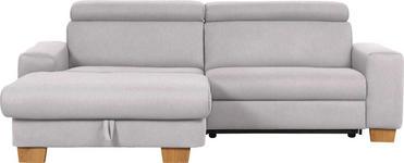 WOHNLANDSCHAFT in Textil Grau - Eichefarben/Grau, Design, Textil (178/262cm) - Hom`in