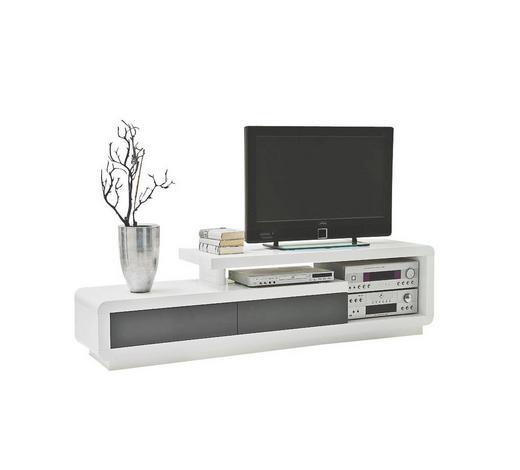 KOMODA - NISKA - bijela, Design, drvni materijal (170/45/40cm) - Xora