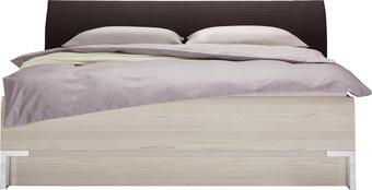 BETT 180 cm   x 200 cm   in Holzwerkstoff, Textil Braun, Lärchefarben - Chromfarben/Lärchefarben, Design, Holzwerkstoff/Textil (180/200cm) - DIETER KNOLL