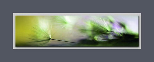 ALUMINIUMBILD - Multicolor, Basics, Glas/Holz (50/125cm) - Eurographics