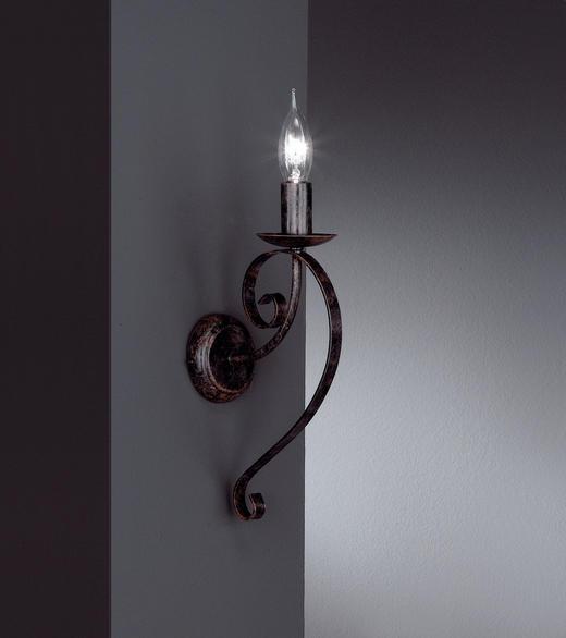 WANDLEUCHTE - Dunkelbraun, LIFESTYLE, Metall (44cm)
