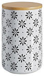 VORRATSDOSE 1,3 L  - Schwarz/Weiß, LIFESTYLE, Keramik/Holz (12/18cm) - Landscape