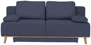 BOXSPRINGSOFA in Textil Blau - Blau, MODERN, Holz/Textil (203/97/107cm) - Dieter Knoll