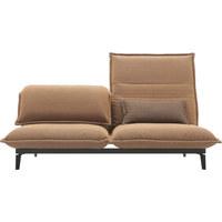 SOFA in Textil Orange - Schwarz/Orange, Design, Textil/Metall (200cm) - Rolf Benz