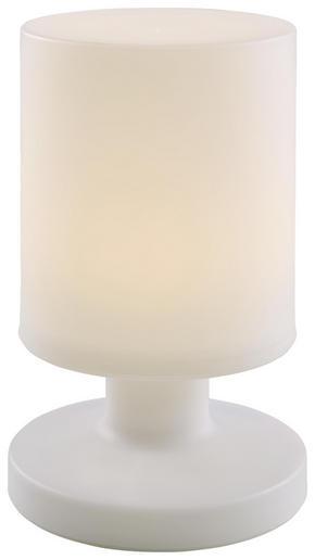 LED BORDSLAMPA - vit, Design, plast (13/20,5cm)