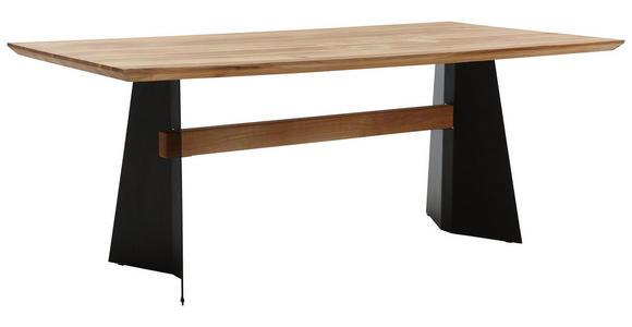 ESSTISCH in Holz, Metall 200/100/78 cm   - Eichefarben/Schwarz, Natur, Holz/Metall (200/100/78cm) - Voleo