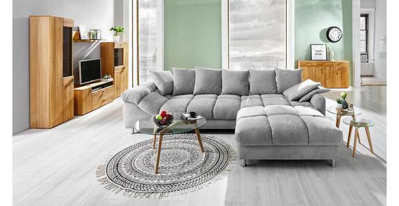 VITRINE in furniert, massiv Kerneiche Eichefarben - Eichefarben/Bronzefarben, Design, Glas/Holz (64/199,5/38cm) - Hom`in