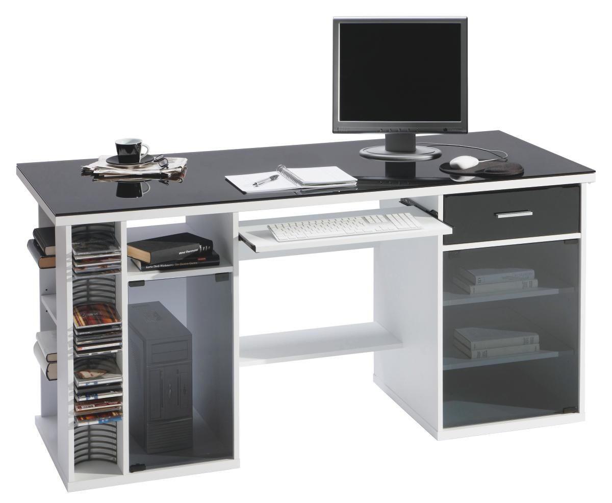 Computertisch glas  COMPUTERTISCH Schwarz, Weiß online kaufen ➤ XXXLShop