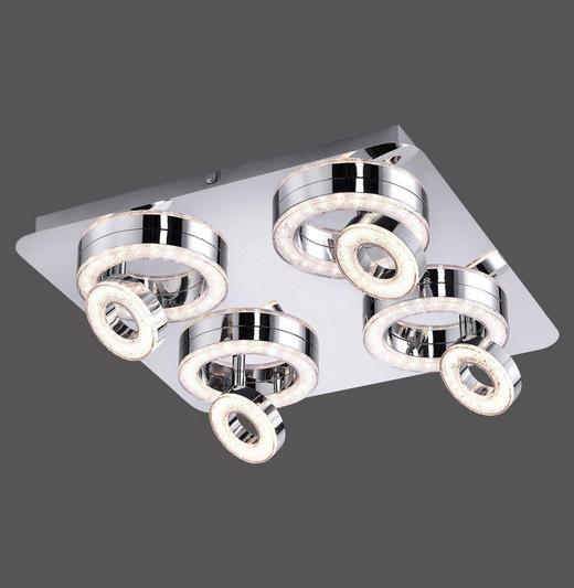 LED-DECKENLEUCHTE - Chromfarben, Design, Metall (40/40/13cm) - Novel