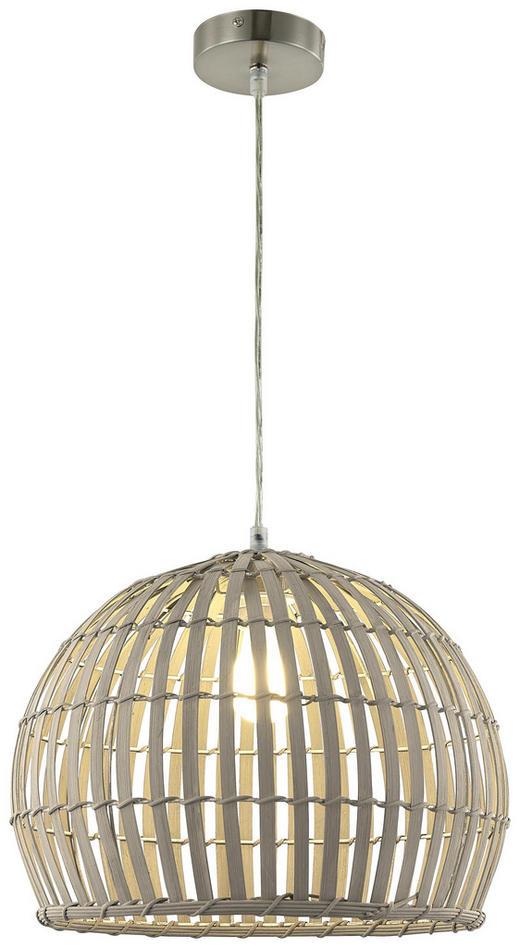 HÄNGELEUCHTE - Grau, LIFESTYLE, Holz/Metall (40/150cm)