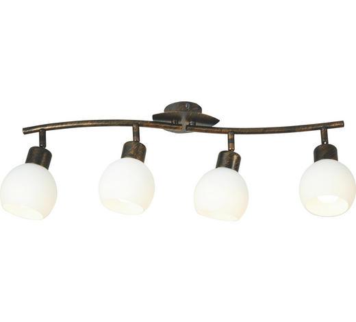 LED SVÍTIDLO - bílá/rezavá, Lifestyle, kov/sklo (60/20,5/10cm)