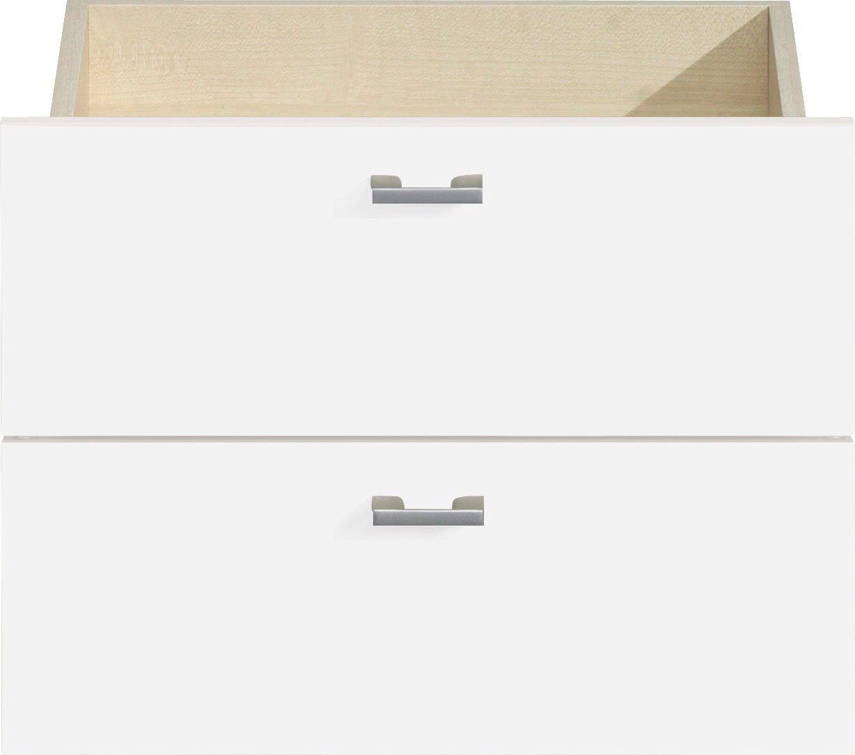 SCHUBLADENSET 43/32/35 cm Weiß - Silberfarben/Weiß, Design, Metall (43/32/35cm) - CS SCHMAL