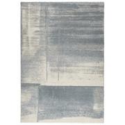 WEBTEPPICH - Blau/Creme, KONVENTIONELL, Textil (67/130cm) - Novel