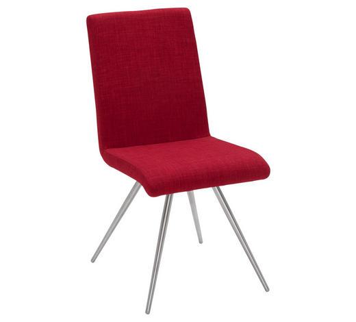 ŽIDLE, červená - červená, Design, kov/textil (?/?/?cm) - Dieter Knoll