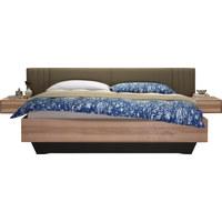 BETTANLAGE  180 cm  x  200 cm  in Holz, Textil Eschefarben, Taupe - Taupe/Eschefarben, Natur, Holz/Textil (180/200cm) - Valdera