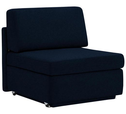 SCHLAFSESSEL in Textil Blau - Blau, KONVENTIONELL, Textil (91/88/94cm) - Venda