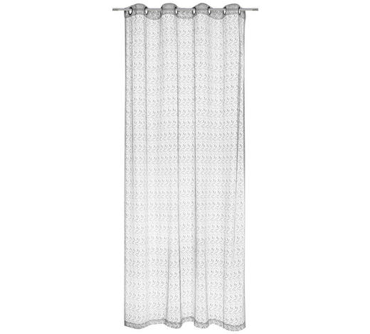 ÖSENVORHANG halbtransparent - Grau, Design, Textil (140/245cm) - Esposa