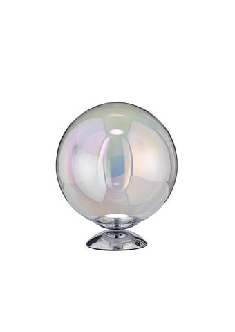 LED-TISCHLEUCHTE - Chromfarben, Design, Glas/Metall (25/28,5cm)